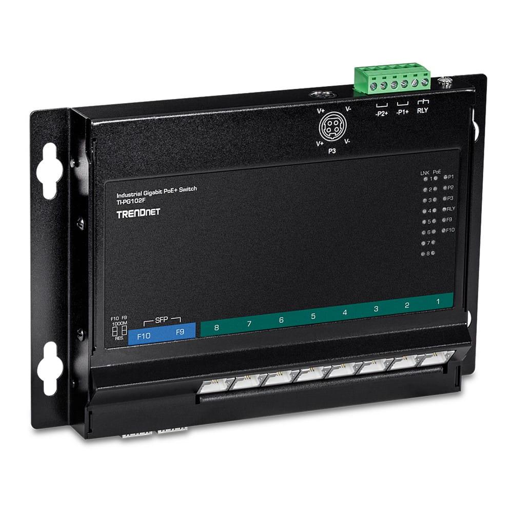 TRENDnet Industrie Switch 10Port Gbit Unman. PoE+ FA Metal