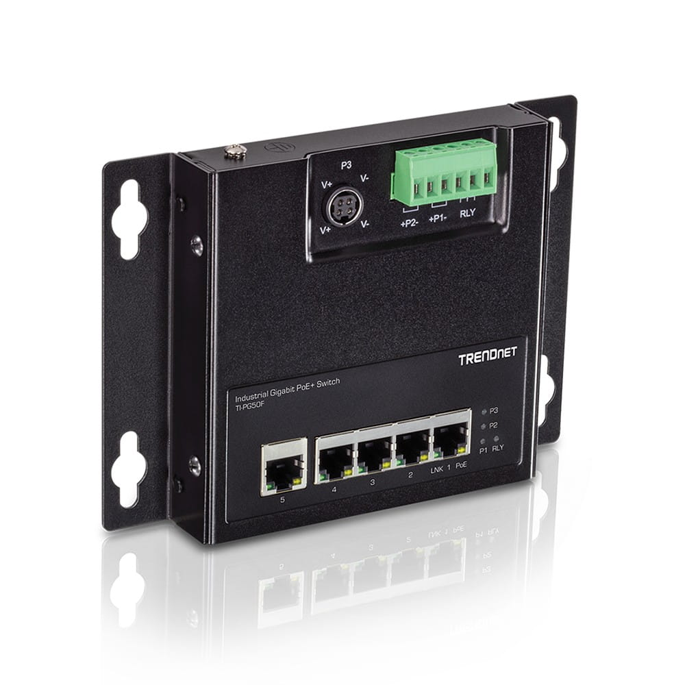 Trendnet TI-PG50F. Switch PoE Gestionado 5 Puertos Gigabit.