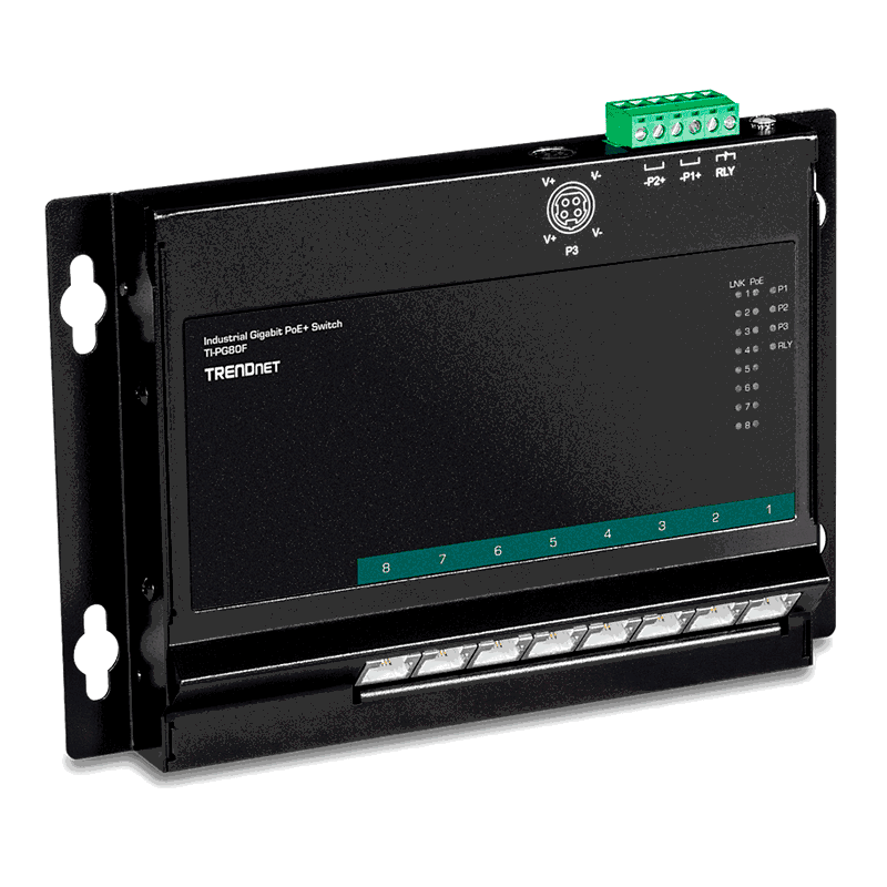 Trendnet TI-PG80F. Switch PoE+ Gigabit 8 Puertos.