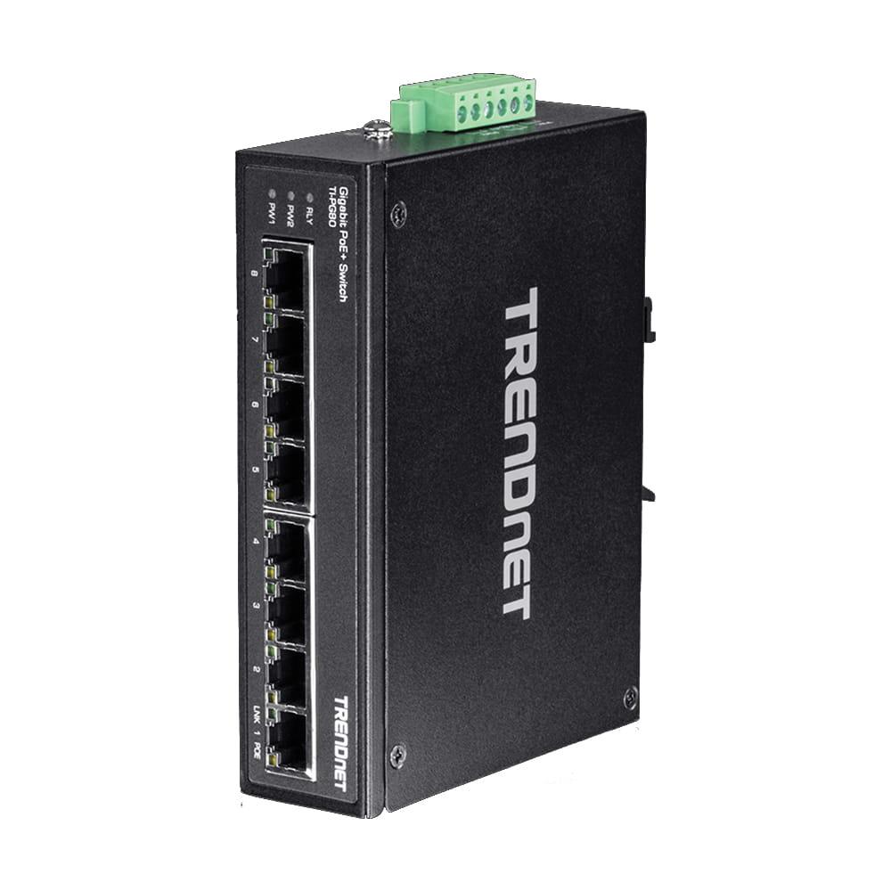 Trendnet TI-PG80. Switch DIN-RAIL PoE+ Gigabit 8 Puertos.
