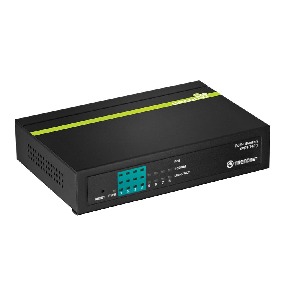 Trendnet TPE-TG44G. Switch PoE+ 8 Puertos Gigabit.