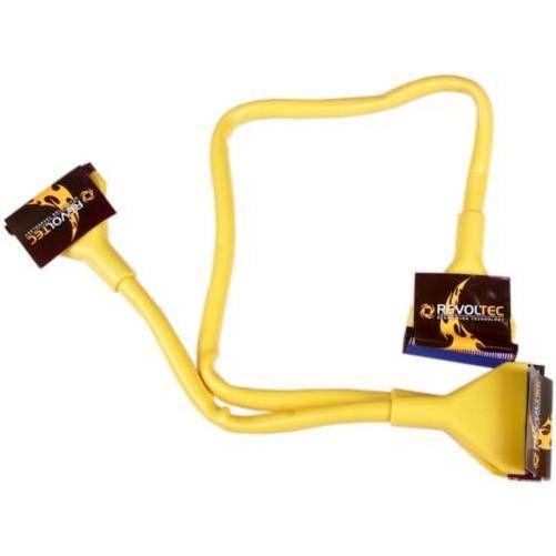 Revoltec RC012. Cable IDE ATA133 redondo, 90 cm, amarillo