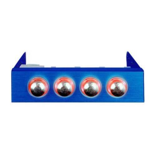 Revoltec RL019. Regulador de Ventilador 3.5, 4-canales, azul