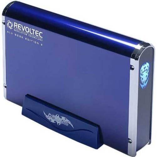 Revoltec RS037.  AluBook 2 SATA Azul de 3.5 USB-eSATA