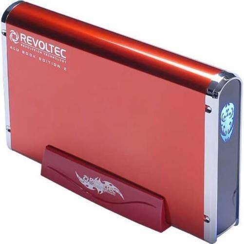 Revoltec RS038.  AluBook 2 SATA Roja de 3.5 USB-eSATA