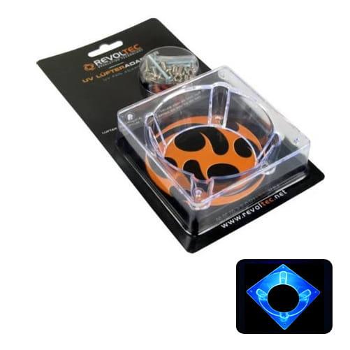 Revoltec RZ003. Adaptador ventilador 60 a 80mm ACRYLIC, UV azul