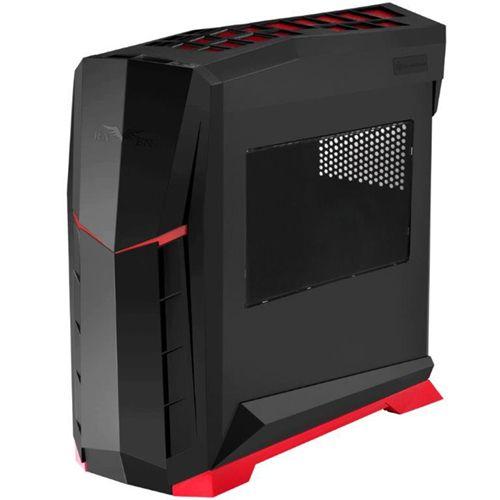 SilverStone Raven RVX01BR-W Negro y rojo con Ventana