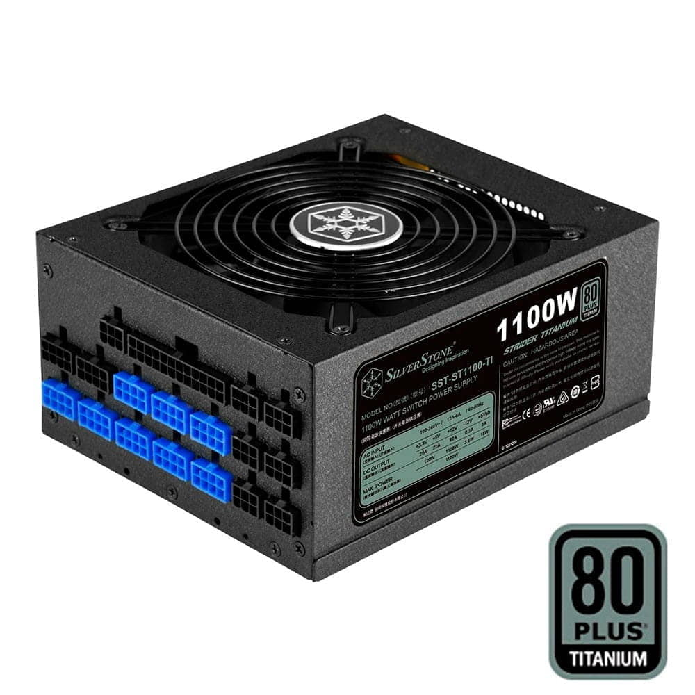 SilverStone SST-ST1100-TI 1100W (Modular, 80 Plus Titanium)