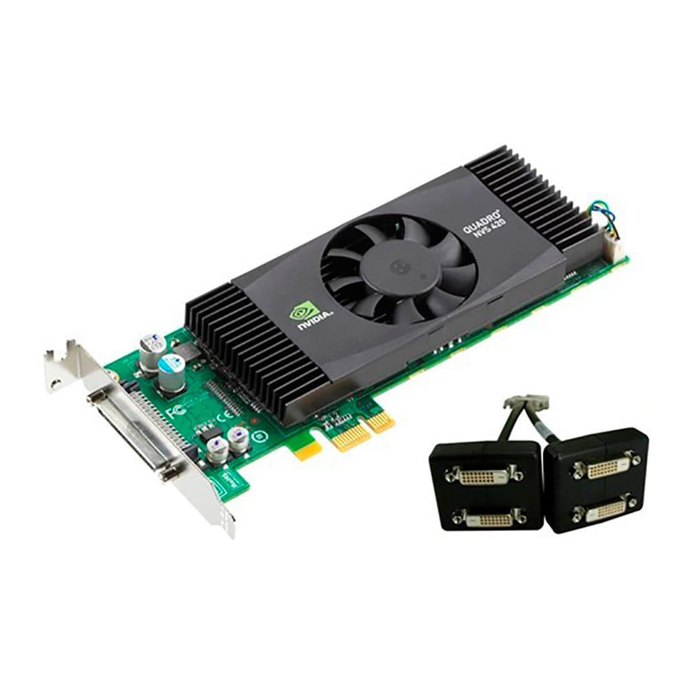 PNY Quadro NVS 420 DVI-D 512Mb GDDR3. BULK.