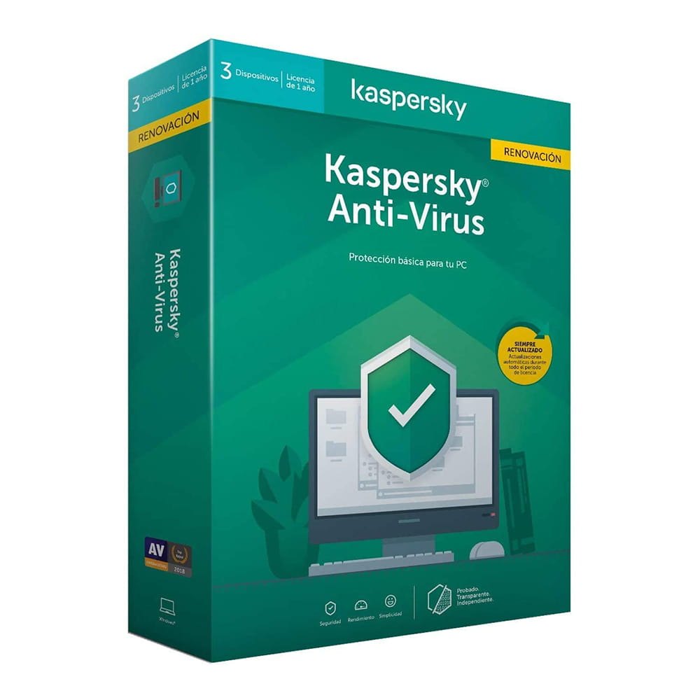 Kaspersky Lab Antivirus 2020 3 Dispositivos 1 Año