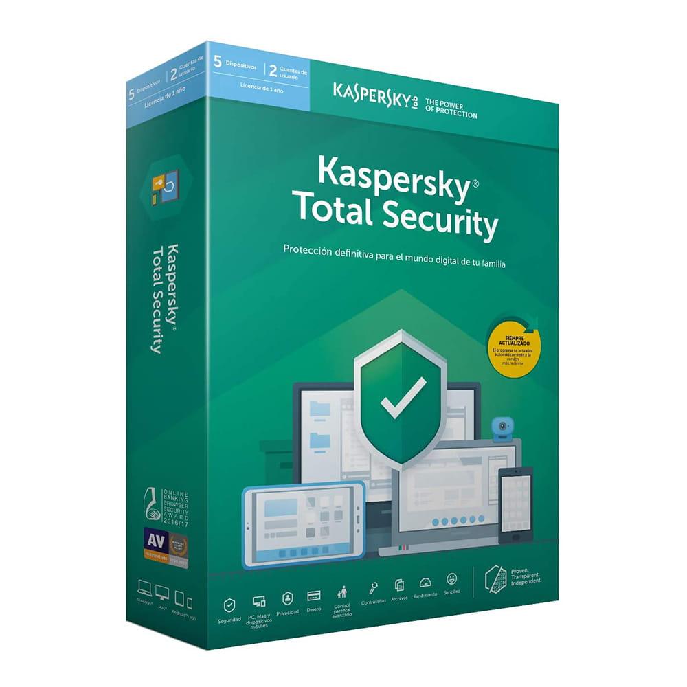 Kaspersky Lab Total Security 2020 5 Dispositivos 1 Año