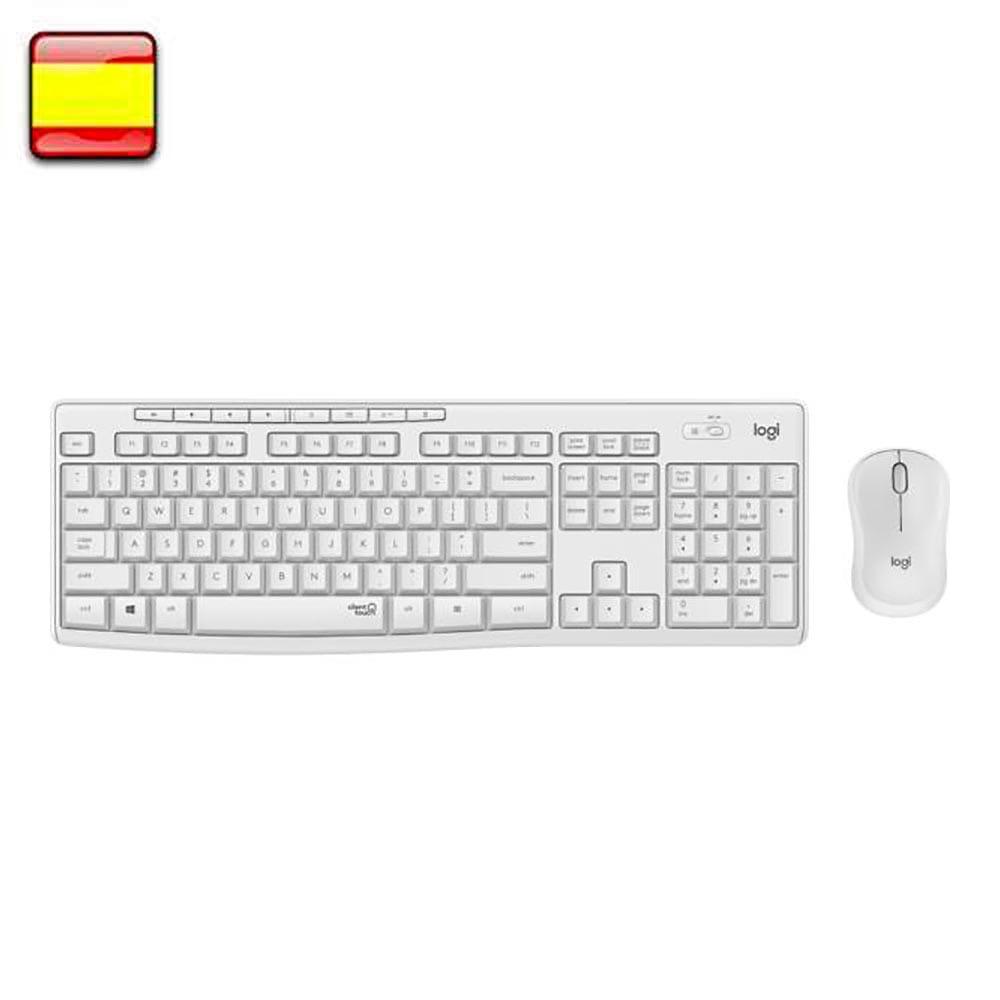 Logitech MK295. Kit teclado + ratón wireless Blanco.