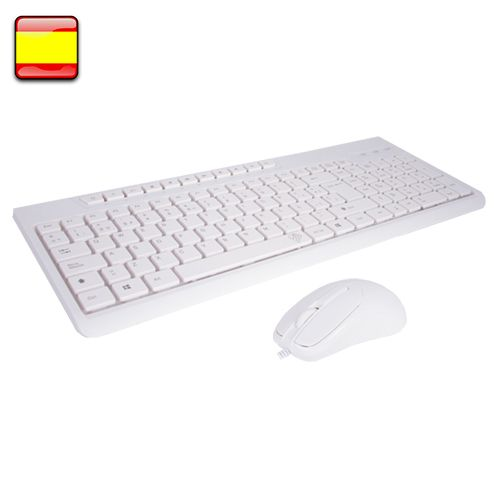 BL Kit teclado+raton Blanco Office multimedia BL-1901